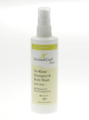 Soothe & Cool® No Rinse Shampoo and Body Washes, 8 oz, Screw Top Bottle