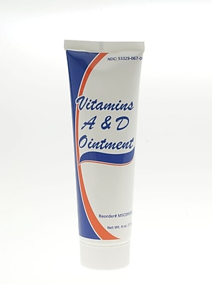 Medline Vitamin A & D Ointments, 4 oz Size, 12/Pack