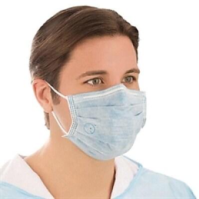 BioMask™ Antimicrobial Standard Flat Masks, Blue, 300/Pack