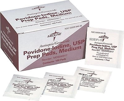 Medline Povidone Iodine Prep Pads, 1000/Pack