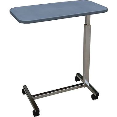 Medline Composite H-base Overbed Tables, 30in. L x 15in. W x 30in. - 47in. H