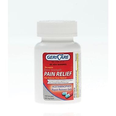 Medline - Generic OTC873601 Acetaminophen Extra Strength Rapid Release Gelcaps 500mg 100 Gelcaps/Bottle