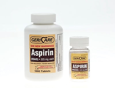 Medline OTC90110 Aspirin Tablets Compare to Bayer 1000 Tablets