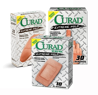 Curad® Extreme Hold Bandages, Brown, XL Size, 3 3/4