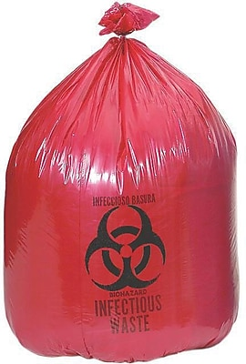 Medline Biohazard Liners, 10 gal, 24