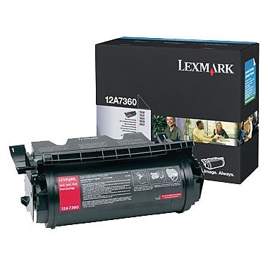 Lexmark Black Toner Cartridge (12A7360)