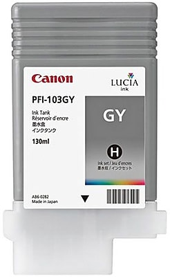 Canon PFI-103GY Gray Ink Cartridge (2213B001AA)