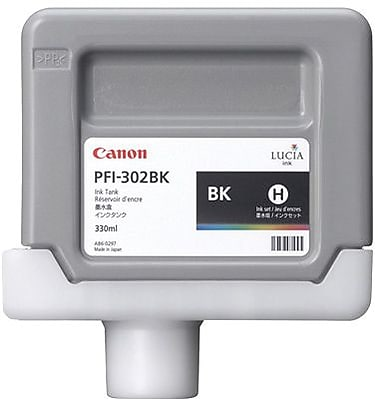 Canon PFI-302BK Black Ink Cartridge (2216B001AA)