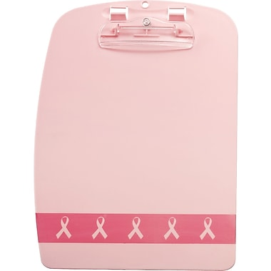 OIC® BCA Plastic Clipboard, Pink, 9