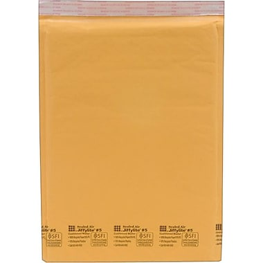 Self-Seal Cushioned Mailers, Side Seam, #5, 10.5