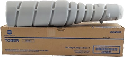 Konica Minolta TN-217 Black Toner Cartridge (A202031), High Yield