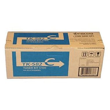 Kyocera Mita TK-582C Cyan Toner Cartridge (1T02KTCUS0), High Yield