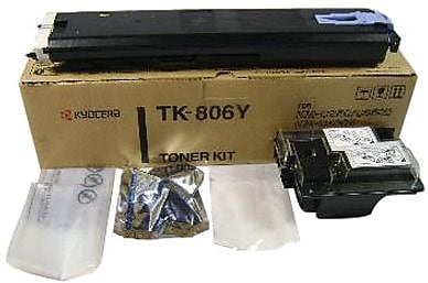 Kyocera Mita TK-806Y Yellow Toner Cartridge (370AL311), High Yield