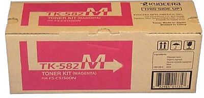 Kyocera Mita TK-582M Magenta Toner Cartridge (1T02KTBUS0), High Yield
