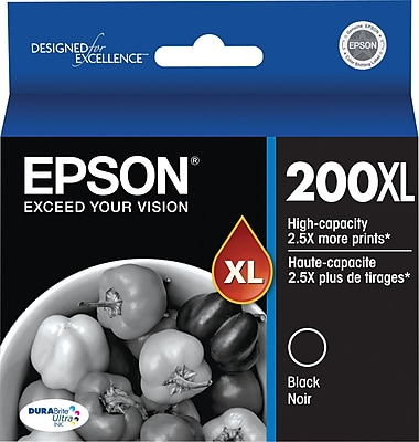 Epson 200XL Black Ink Cartridge, High Yield (T200XL120-S)