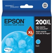 Epson 200XL, Cyan Ink Cartridge, High Capacity (T200XL220)
