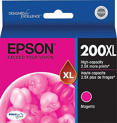 Epson 200XL Magenta Ink Cartridge (T200XL320), High Yield
