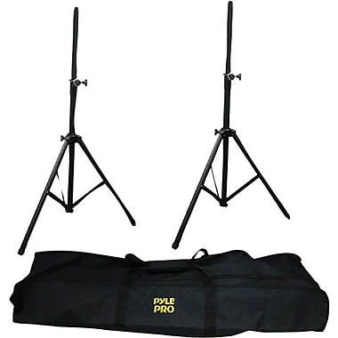 Pyle® Heavy Duty Aluminum Anodizing Dual Speaker Stand With Traveling Bag Kit