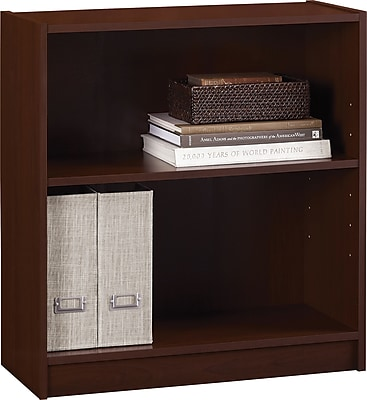 Hayden 2-Shelf Laminate Bookcase, Hilton Cherry