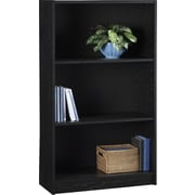 Hayden 3-Shelf Laminate Bookcase, Midnight Onyx