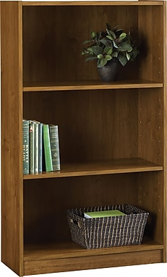 Hayden 3-Shelf Laminate Bookcase, Amber Grain