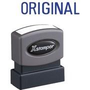 "Shachihata Inc Stamp ""Original"" Pre-Inked Stamp, Blue, 1/2"" x 1 5/8"""