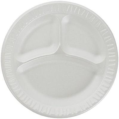 Dart® Concorde® Non-Laminated Round Foam Plates, 10-1/4