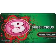 Bubblicious Bubble Gum, Watermelon, 10-Piece Packs, 12 Packs/Box