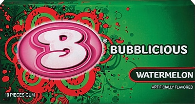Bubblicious Bubble Gum, Watermelon, 12 Packs/Box (AMC9152600)