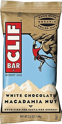 Clif® Bars White Chocolate Macadamia, 2.4 oz. Bars, 12 Bars/Box