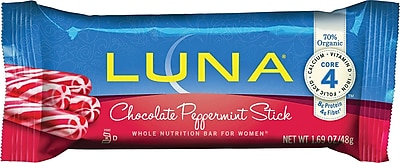 LUNA® Chocolate Peppermint Stick, 1.69 oz. Bars, 15 Bars/Box