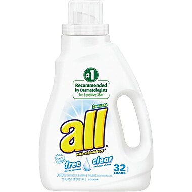 all® 2X Ultra Free Clear Laundry Detergent, 50 oz.