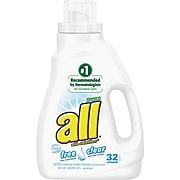 all 2X Ultra Free Clear Laundry Detergent, 50 oz.