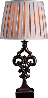 Kenroy Fleur Table Lamp in Oil Rubbed Bronze Finish