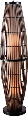 Kenroy Biscayne Outdoor Floor Lamp w/ Rattan finish & 7