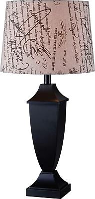 Kenroy Bauer Table Lamp w/ Black Finish & 15