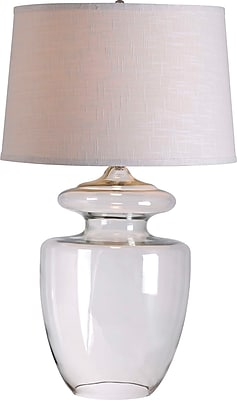Kenroy Apothecary Table Lamp w/ Clear Glass Finish & 17