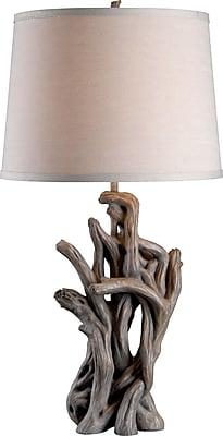 Kenroy Cast Away Table Lamp w/ Driftwood Finish & 15