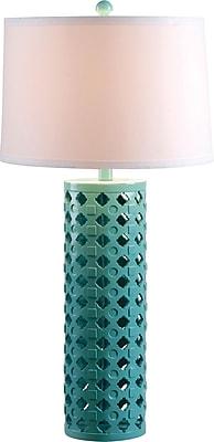 Kenroy Marrakesh Table Lamp w/ Teal Finish & 15