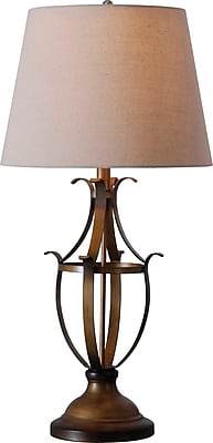 Kenroy Nicolas Table Lamp w/ Aged Golden Copper Finish & 15