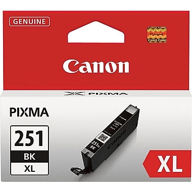 Canon CLI-251XLBK Black Ink Cartridge (6448B001), High Yield