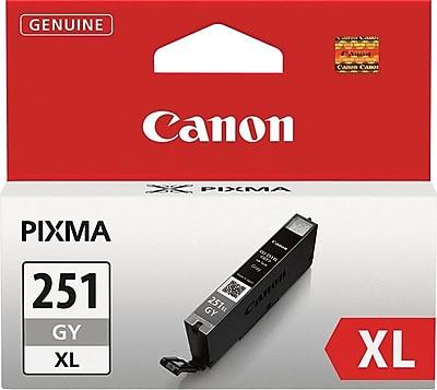 Canon CLI-251XLGY Gray Ink Cartridge (6452B001), High Yield