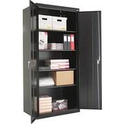 "Alera® Assembled Storage Cabinet with Adjustable Shelves, Black, 78"" H x 36"" W x 24"" D"