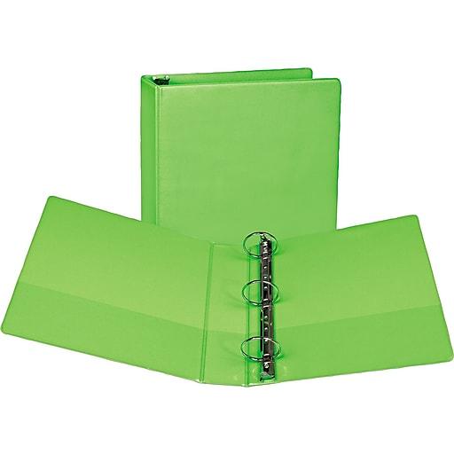 2 samsill fashion presentation view binder round ring lime staples