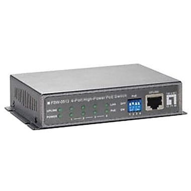 LevelOne® FSW-0513 PoE Ethernet Switch, 4 Ports