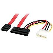 "StarTech Serial ATA Data and Power Combo Cable, 18""(L) (SATA18POW)"