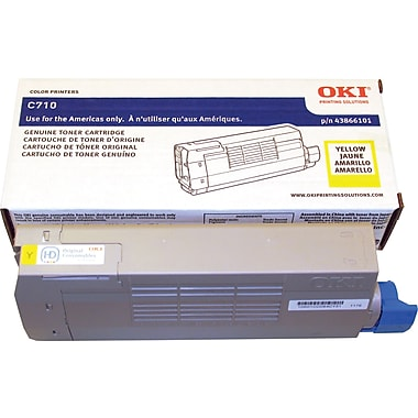 OKI C710 Series Toner Cartridge, Yellow (43866101)