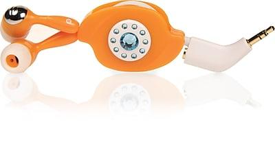 Memorex IE300 Headphones, Orange