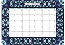 WallPops Malaya Dry Erase Calendar and Message Board Set