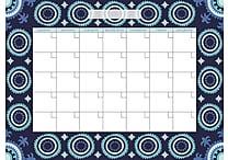 WallPops Malaya Dry Erase Calendar and Message Board Set